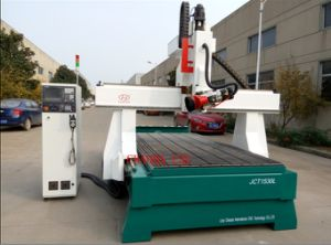 3D Wood Cutting CNC Machine / 4 Axis Wood CNC Router Head Rotate 180 Degree pictures & photos