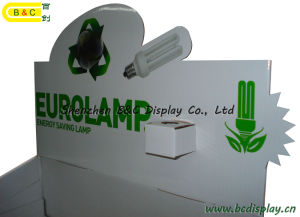 Cardboard Floor Display, Paper Display for Energy-Saving Lamps with SGS (B&C-A008) pictures & photos