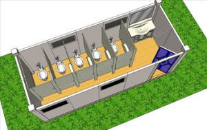 Portable Shower Room Container House pictures & photos