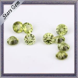 Round Brilliant Natural Peridot Stone Beads pictures & photos