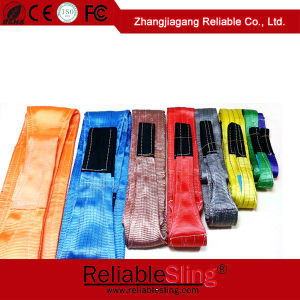 Heavy Duty Flat Eye Eye Polyester Webbing Belt Type Lifting Slings Lifting Belt pictures & photos