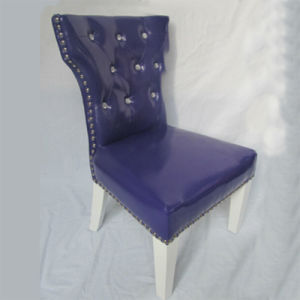 Blue Shining PVC Leather Children Upholstered Chair Stool (SF-58) pictures & photos