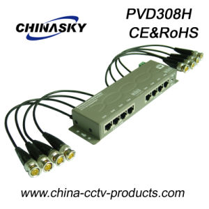 8CH CCTV UTP Power Data Combiner Cat5 Video Balun (PVD308H) pictures & photos