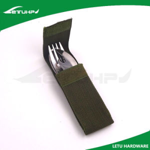 Stainless Steel Outdoor Cutlery with Knife Fork and Spoon pictures & photos