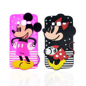 Mickey Minnie Stripe Polka DOT Silicone Phone Case Galaxy J5 J7 Motorola G4play Phone Accessorires (XSD-034, XSD-035) pictures & photos
