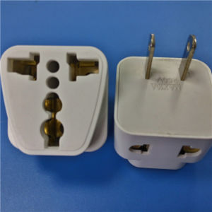 Two Flat Pins Plug to Multi Fuction Adaptor (RJ-0061-1) pictures & photos