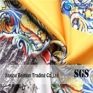 Slubby 100%Polyester Yarn Dye Printed Organza Fabric pictures & photos
