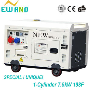 1-Cylinder 7.5kw Super Silent Diesel Generator with Wheels Air-Cooled pictures & photos