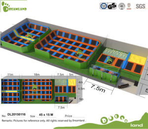 Professional Manufacturer According to Your Room Size Indoor Trampoline Park with Foam Pit, Dodge Ball, Basketball Hoop pictures & photos