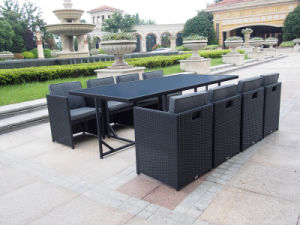Modern Dining Rattan Furniture Outdoor Combination Hotel Table and Chair
