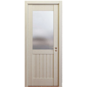 Oppein Oak MDF Interior Swing Door with Glass (MSJD59) pictures & photos