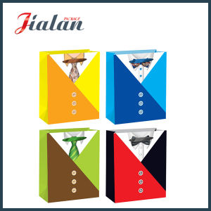 Promotion Coated Paper M′s Sweater Shopping Carrier Gift Paper Bag pictures & photos