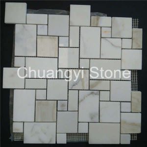 China Supplier Decorative Wall Panels Wall White Marble Mosaic pictures & photos
