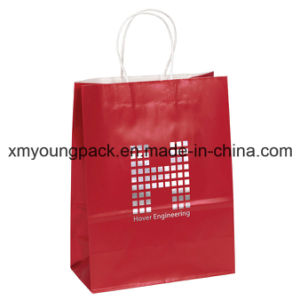 Promotional Customized Printed Red Craft Paper Gift Bag pictures & photos