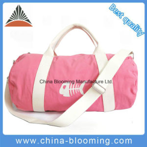 Travel Clothes Storage Shoulder Hand Lady Fashion Canvas Duffel Bag pictures & photos