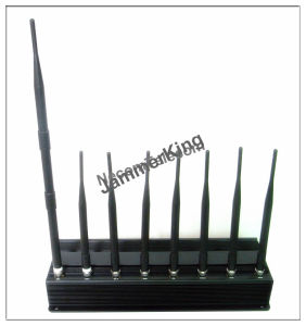 Sensitive Desktop WiFi Bluetooth GPS Lojack Signal Jamer, Walkie-Talkie UHF VHF Jammer Blocker, DMA/GSM/Dcs /3G Cell Phone Jammer pictures & photos