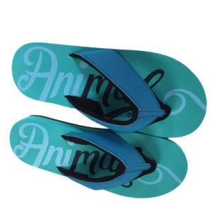 Men Fabric Strap Flip Flops pictures & photos