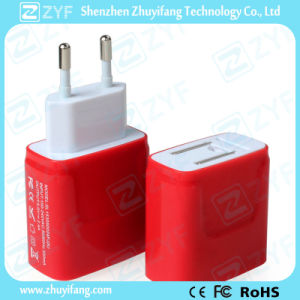 Red Dual USB Outlet 5V/2.4A Charger Adapter (ZYF9007)