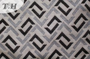 2016 Perfect Squares Symmetry Jacquard Sofa Fabric (FTH31948) pictures & photos
