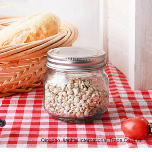 Clear Glass Fruit Salad Canning Mason Jar Without Handle pictures & photos