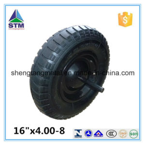 16 Inch 4.00-8 Rubber Pneumatic Air Solid Wheel for Wheelbarrow Hand Trolley pictures & photos