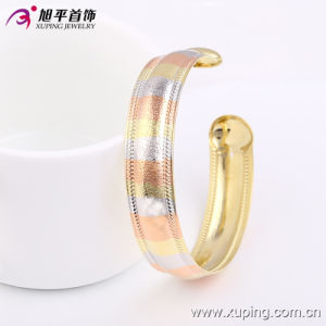 51399 Fashion Xuping Royal Multicolor Imitation Jewelry Bangle with Three -Stone Color in Brass and Alloy pictures & photos