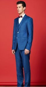 Autumn New Style Royal Blue Men Wedding Suit Bridal Dress pictures & photos