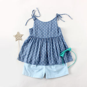 Phoebee 100% Cotton Children Girl Clothes for Summer pictures & photos