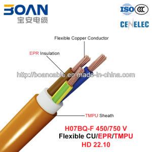 H07bq-F, Rubber Cable, 450/750 V, Flexible Cu/Epr/Tmpu (HD22.10) pictures & photos