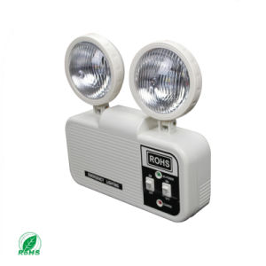 Twin Head Battery Backup Rechargeable LED Fire Emergency Light pictures & photos