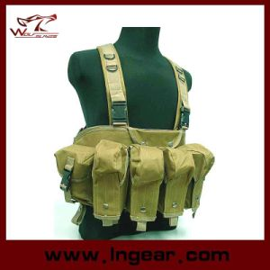 Ak Magazine Chest Rig Carry Vest Tactical Bellyband Vest pictures & photos