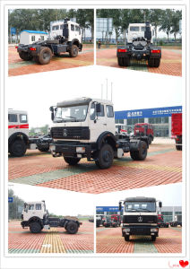 North Benz White Red New Design Tractor Truck for Sale pictures & photos
