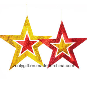 Laser Card Paper Set of Hanging Star Decoration / Hang Paper Star pictures & photos