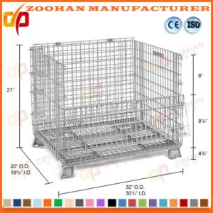 Supermarket Warehouse Stackable Steel Wire Mesh Container Storage Cage (Zhra21) pictures & photos