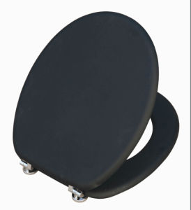 One Side Elastic Printing Moulded Wood Toilet Seat