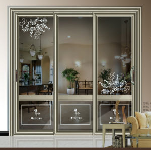 Fuxuan Tempered or Laminated Safety Decorative Glass Sliding Door pictures & photos