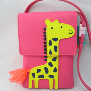 Girls Giraffe Cross Body Pink PU Bag pictures & photos