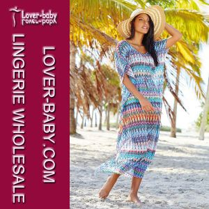 Print Maxi Kaftan Beach Dress (L51299) pictures & photos