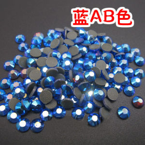 Wholesale Blue Ab Hotfix Rhinestone Crystal for Decorate (SS12 Blue AB/3A grade) pictures & photos