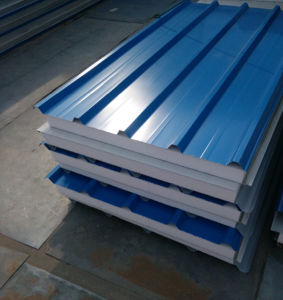 Color Steel EPS Sandwich Panel for Perfab Houses pictures & photos