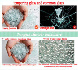 New Design Tempering Glass Shower Door (022H) pictures & photos