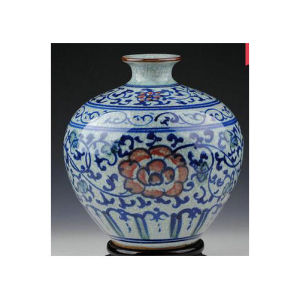 Chinese Antique Blue and White Vase Lw933 pictures & photos