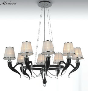 Restaurant Glass Pendant Lamp with Shade Chandelier (40031-8) pictures & photos