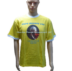 Advertising Election T-Shirt for Wholesale in Yellow pictures & photos