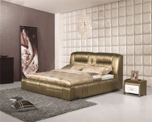 Bedroom Bed Leather Soft Bed pictures & photos