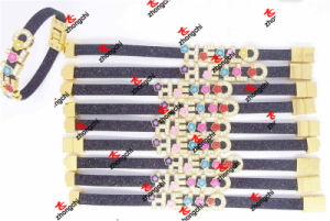 New Designs 8mm Slide Charms PU Leather Bracelet Straps (SCB5111) pictures & photos