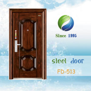 China Newest Develop and Design Single Steel Security Door (FD-513) pictures & photos