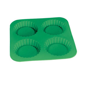 LFGB Customized 4 PCS Round Silicone Cake Mould pictures & photos