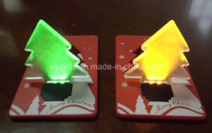 Promotional Items Christmas Tree Pocket LED Card Light