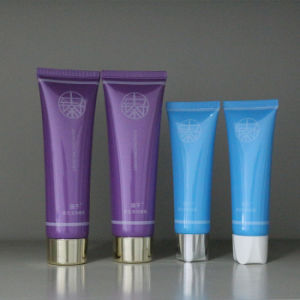 Empty Silk Screen Cosmetic Tubes with Silver-Plated Cap pictures & photos